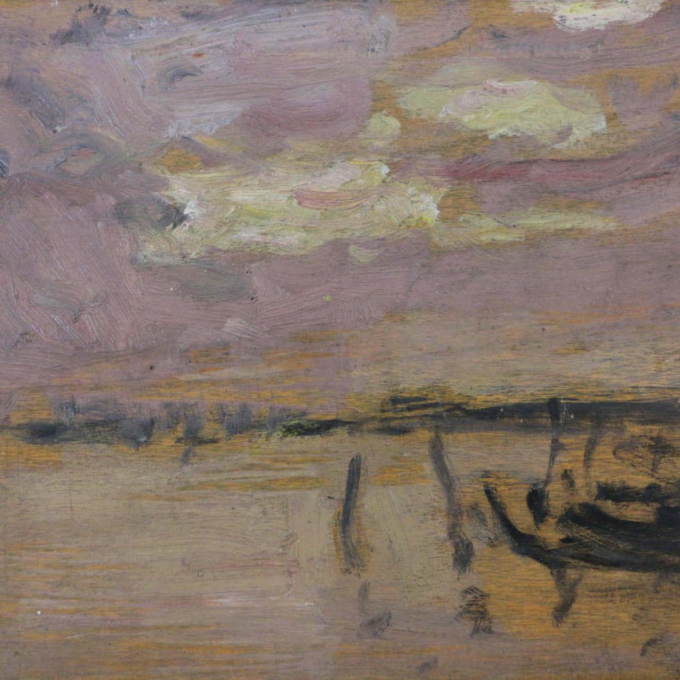 Gondolas in the Lagoon, Venice (probably Giudecca)-James Wilson Morrice, R.C.A.