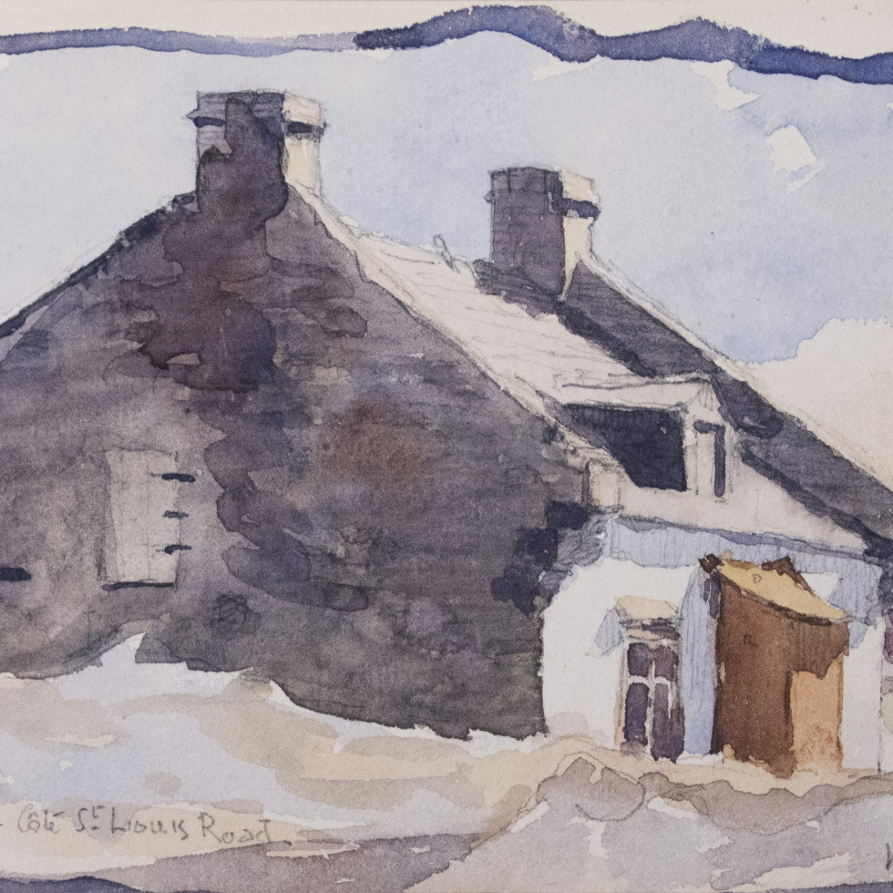 Old House, Côte-St. Louis-William Brymner, C.M.G., P.R.C.A., O.S.A.