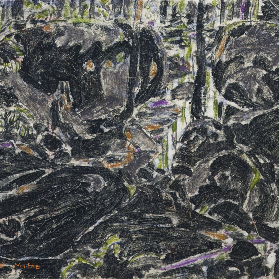 Stream in the Bush (Boulders in the Bush II) (Big Moose Lake, Adirondacks, New York)-David Milne