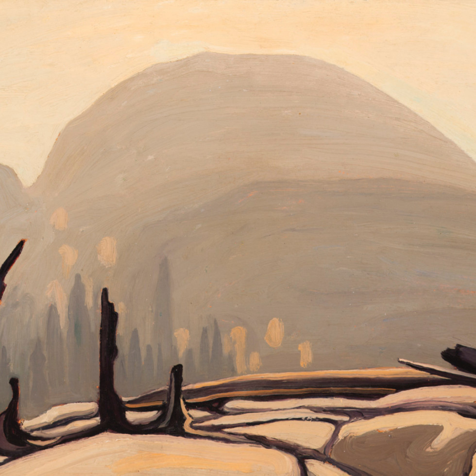 Morning Sun Over Hill, Lake Superior (Lake Superior Sketch XXVII)-Lawren S. Harris