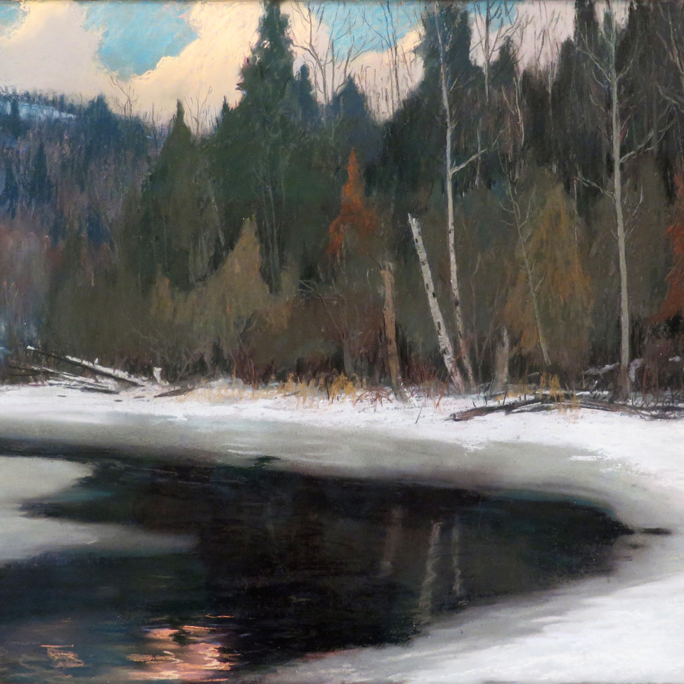 Twilight in the Laurentians-Maurice Cullen, R.C.A.