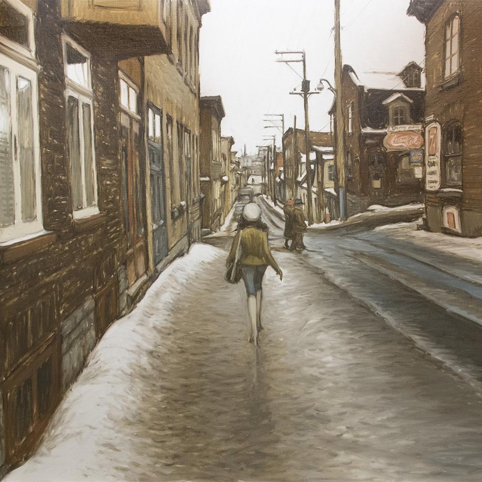 Une Journée de mars, Rue Latourelle, Qué-John Little, R.C.A.