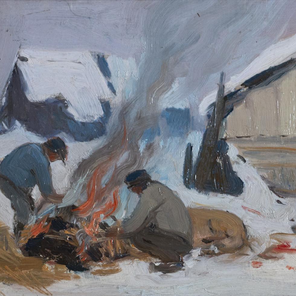 Four de boucherie, Baie St. Paul-Clarence A. Gagnon, R.C.A.