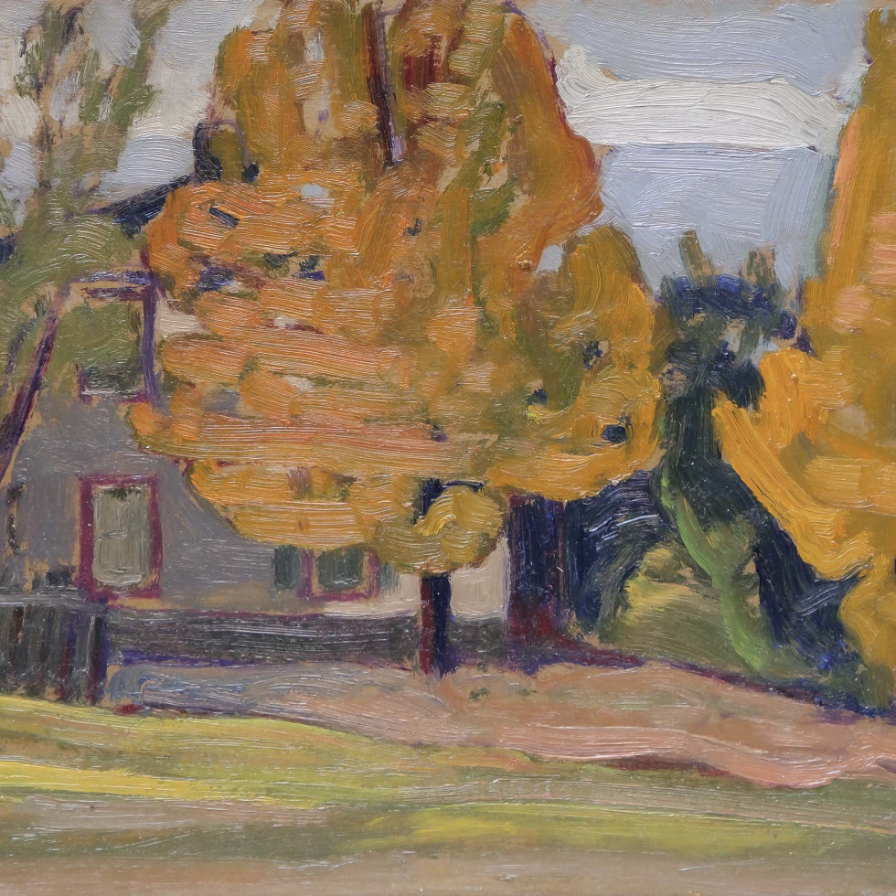 Mr. Joe Cox's House (next door west), Thornhill-J.E.H. MacDonald