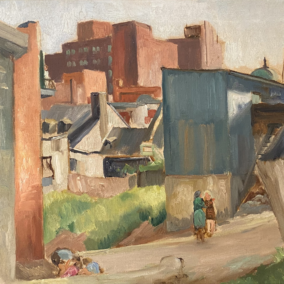 In The Lane, Montreal-Louis Muhlstock