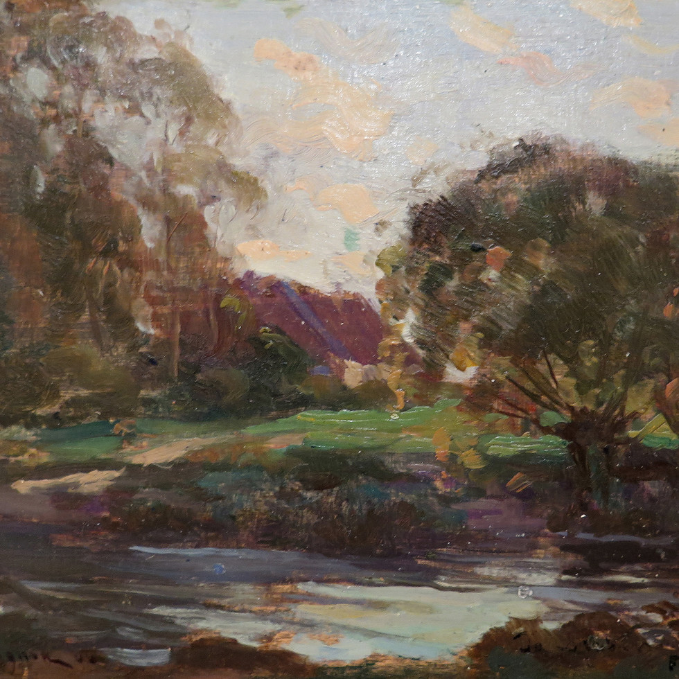 """Sketch for """"Scène d'automne / Autumn scene""""-Clarence A. Gagnon, R.C.A."""