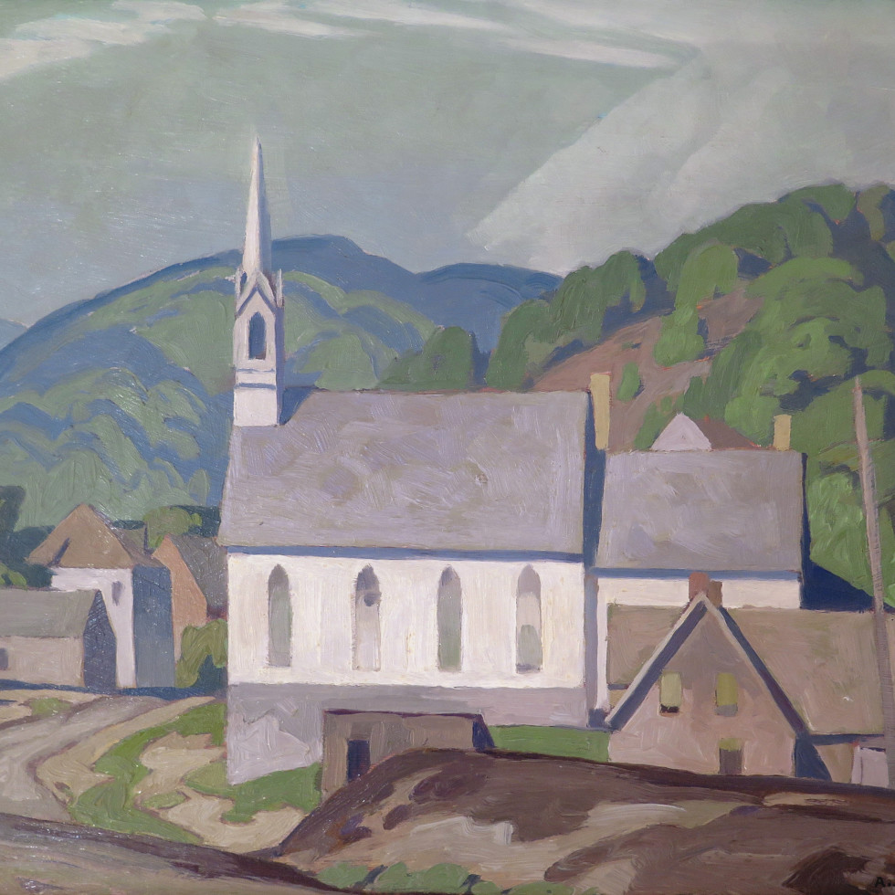 The Village Church (at Barry's Bay)-A.J. Casson, C.M., O.Ont., LL.D., R.C.A.
