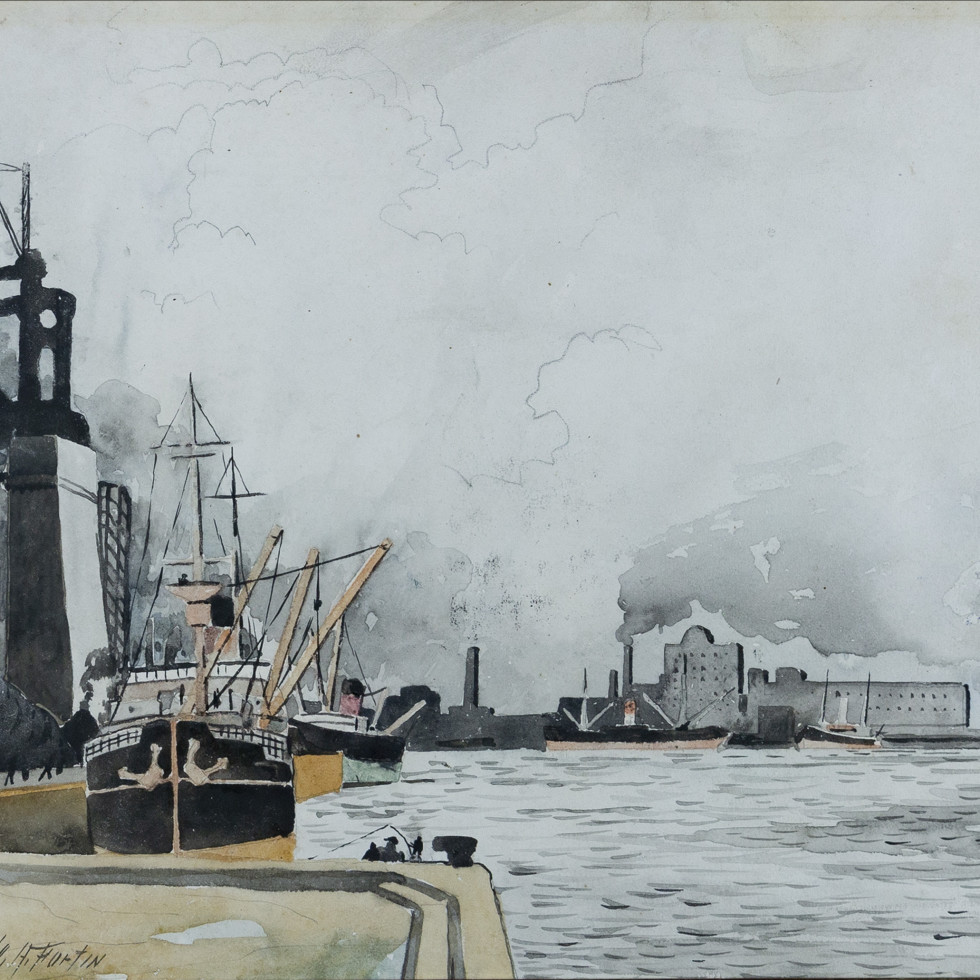 The Port, Montreal-Marc-Aurèle Fortin