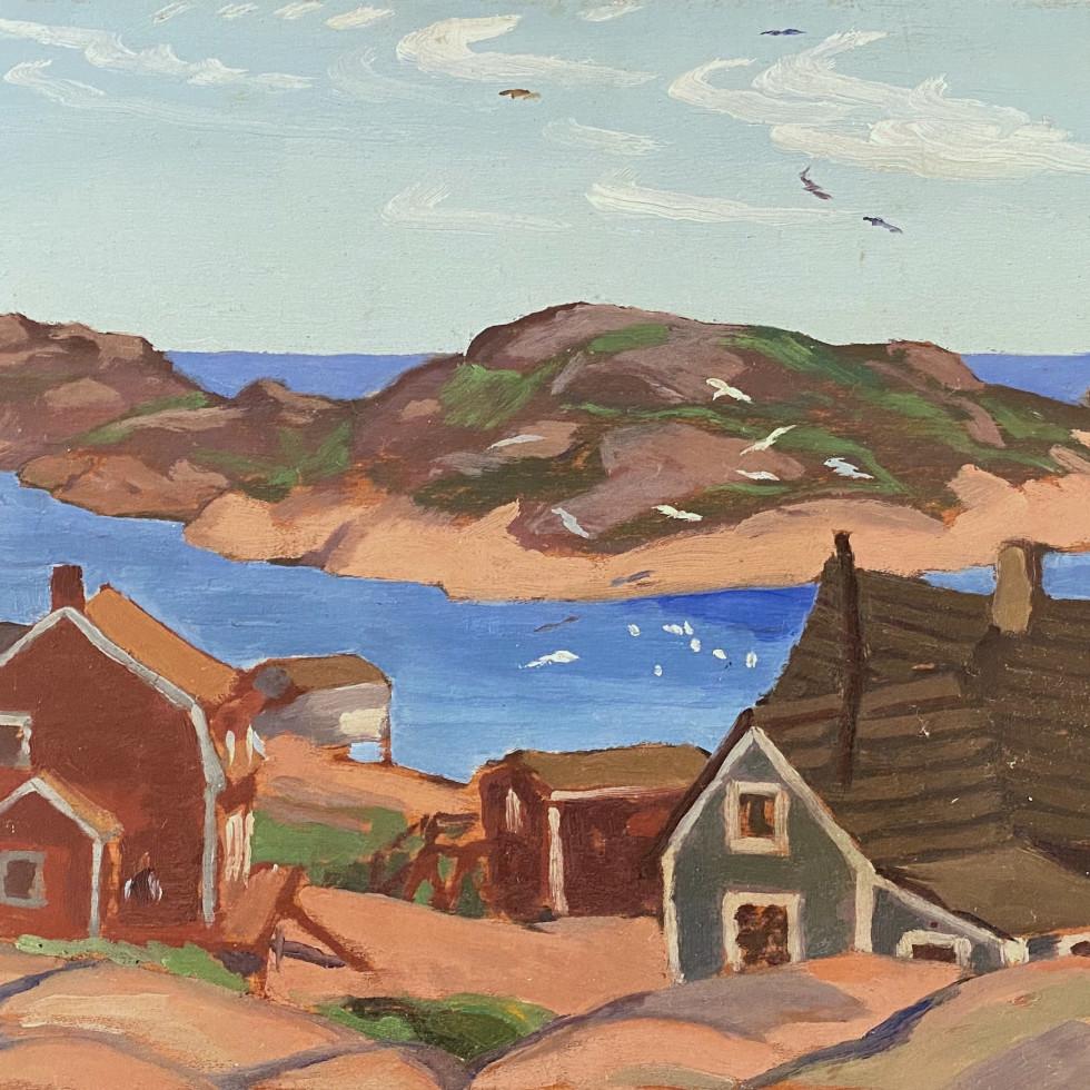 Fishing Village, Mutton Bay-Edwin Holgate