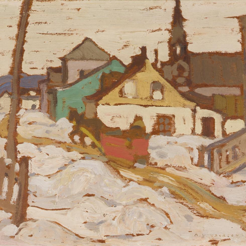 Baie St. Paul in Winter-A.Y. Jackson