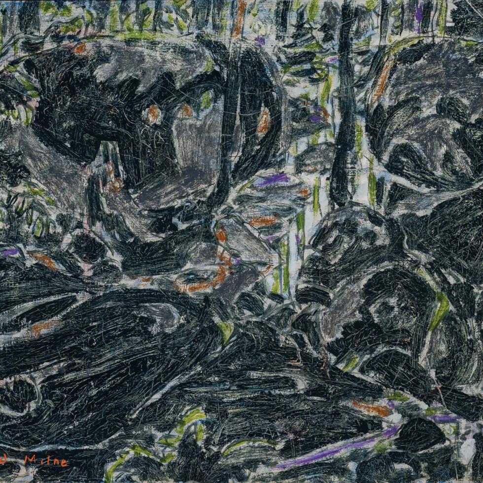 Stream in the Bush (Boulders in the Bush II) (Big Moose Lake, Adirondacks, New York)-David Milne