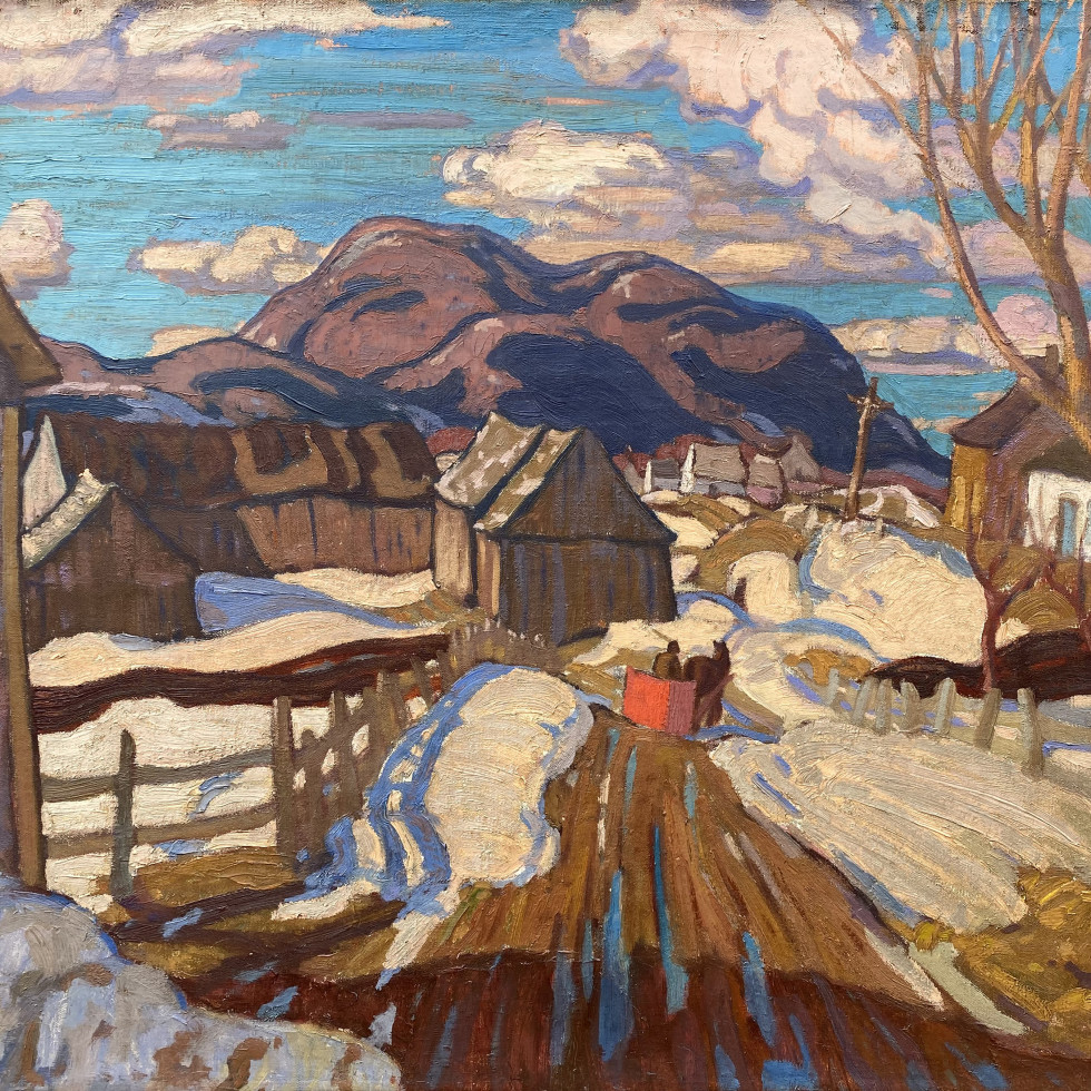 Early Spring, Quebec-A.Y. Jackson