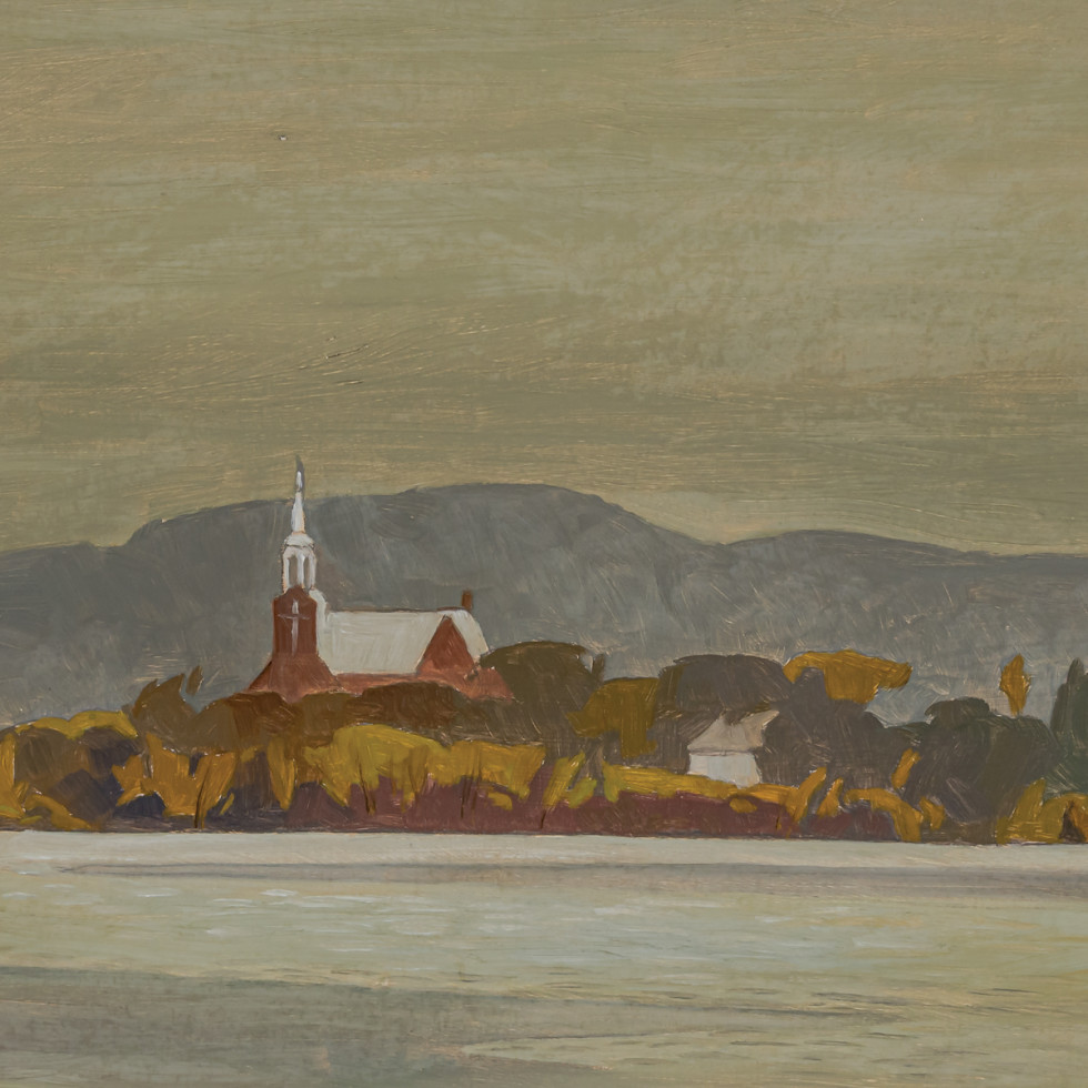 Church at Grenville (Quebec)-A.J. Casson