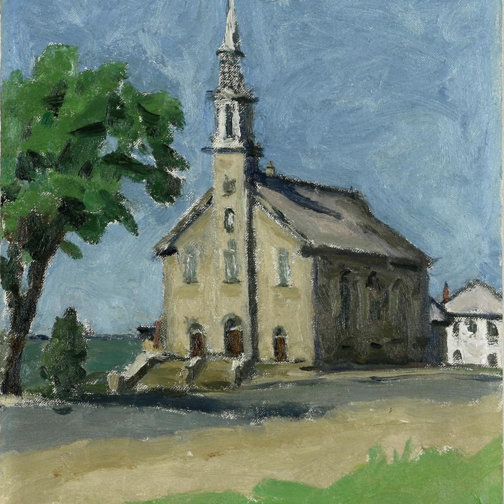 Church at Notre-Dame-du-Portage (Near Cacouna)-Emily Coonan