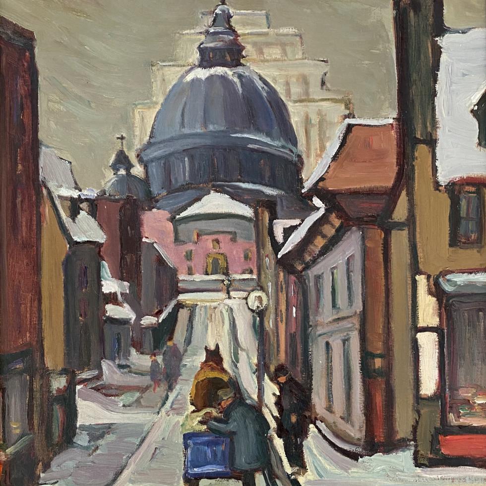 Looking up Sainte Cecile Street-Kathleen Morris