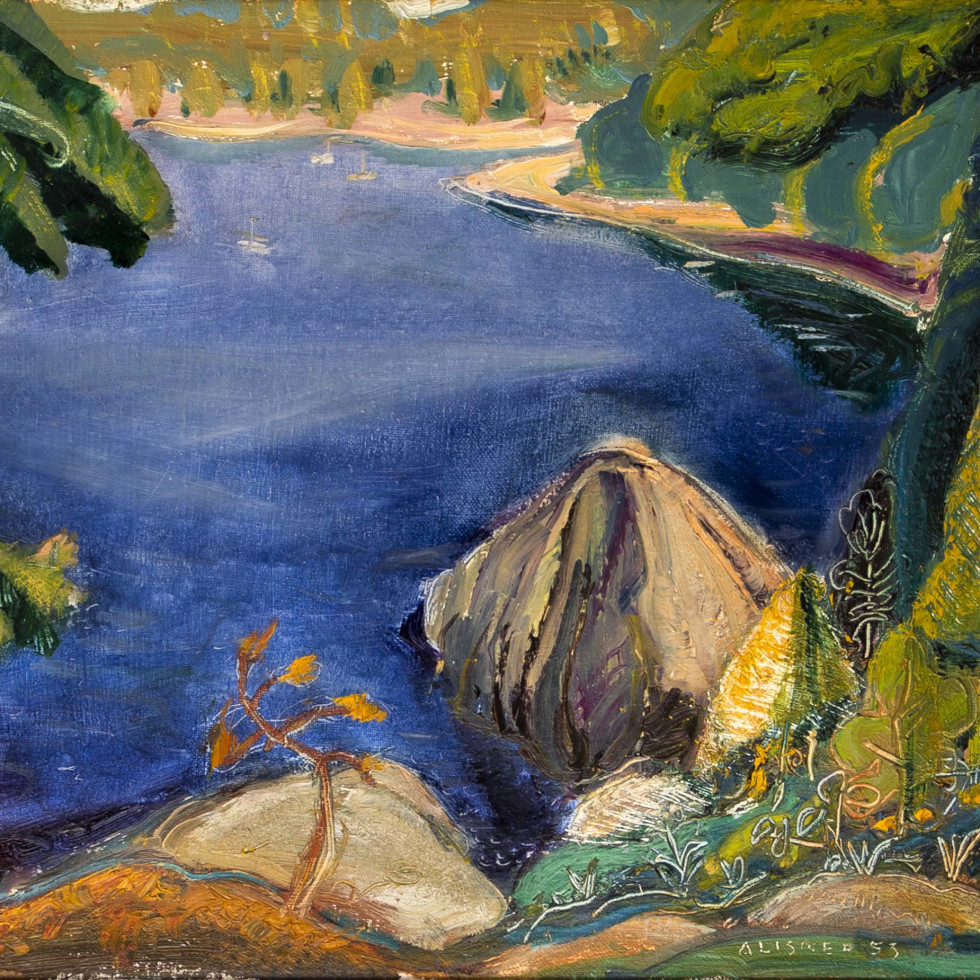 On Pender Island, East Coast of Vancouver Island, BC-Arthur Lismer