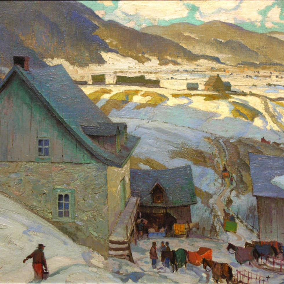 Grist Mill, Baie St. Paul - Grist Mill, Baie St-Paul-Franklin Arbuckle, R.C.A.