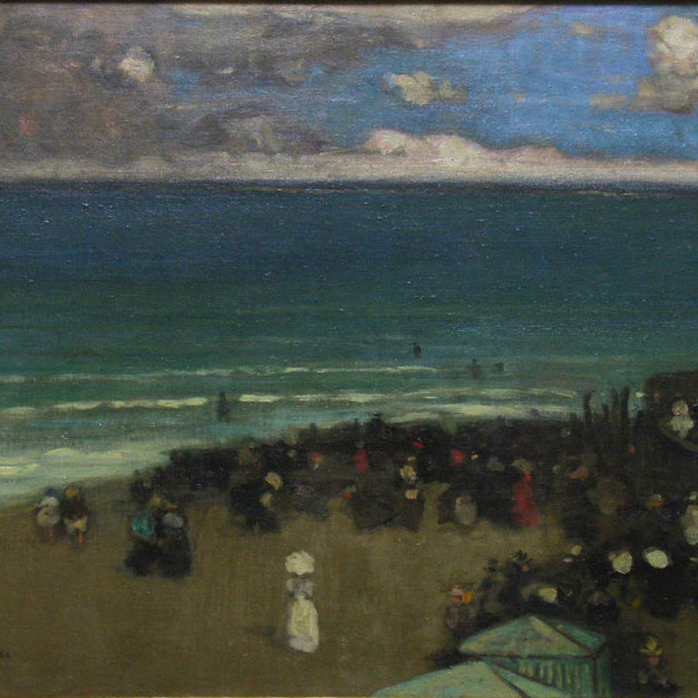 The Beach, St. Malo-James Wilson Morrice, R.C.A.