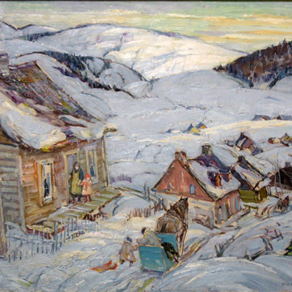 Winter, Charlevoix County - Hiver, comté Charlevoix-Frederick W. Hutchison, R.C.A.