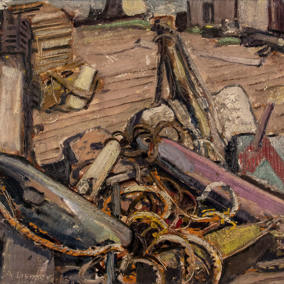 Ropes and Gear, Neil's Harbour, Cape Breton I., N.S.-Arthur Lismer