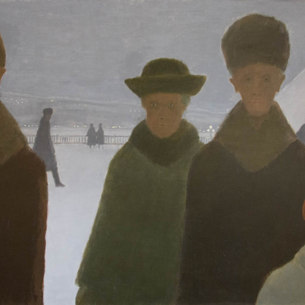 """Strange """"visitors"""" in Jean Paul Lemieux's Iconic """"Dufferin Terrace"""" Scene"""
