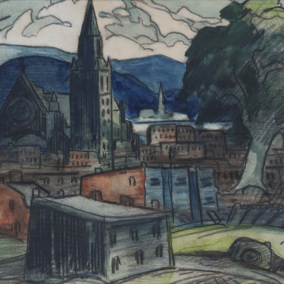 A View of Hochelaga by Marc-Aurèle Fortin