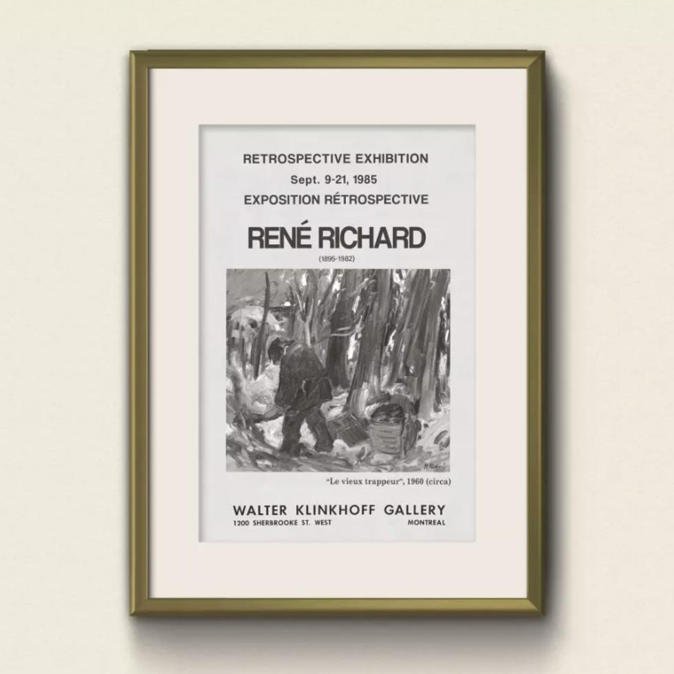 Chef-d'Oeuvre de René Richard souligne l'importance pancanadienne de l'artiste-