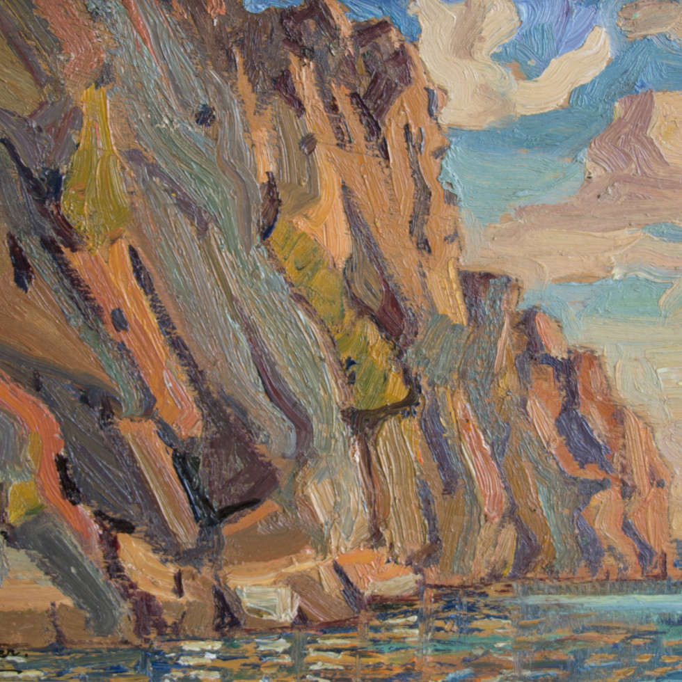 Arthur Lismer in Bon Echo-
