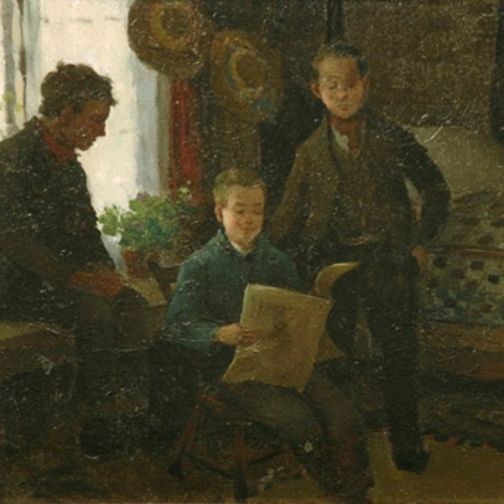 An Appreciation of Suzor-Coté's Genre Painting ''Adolescent Reading'' (1896)-