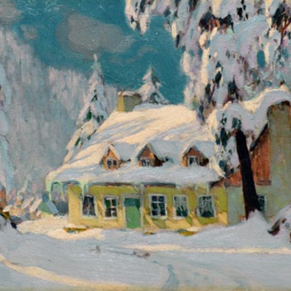 "Clarence Gagnon's ""Après la Tempête"" (c. 1922), the height of his artistic powers-"