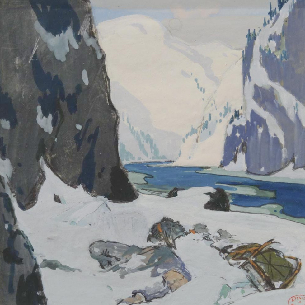 Precious Illustration, an Important Visual Document in the Narrative Of Clarence Gagnon-