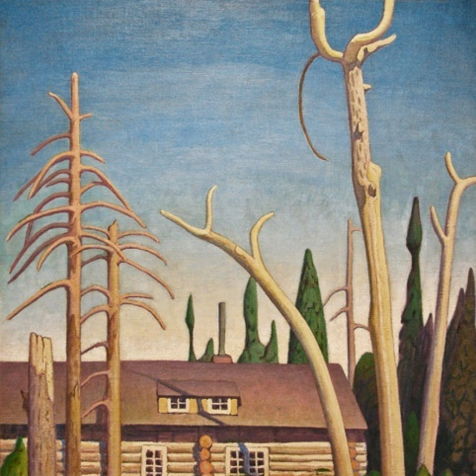 Lawren Harris Masterpiece For Sale at Klinkhoff-Log Cabin, c. 1925
