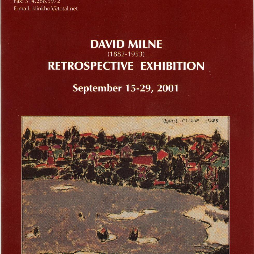 David Milne (1882-1953) Retrospective Exhibition