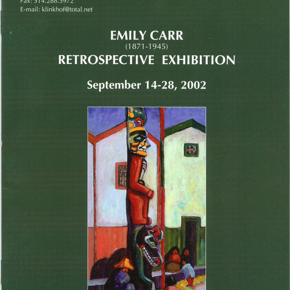 Emily Carr (1871-1945) Retrospective Exhibition