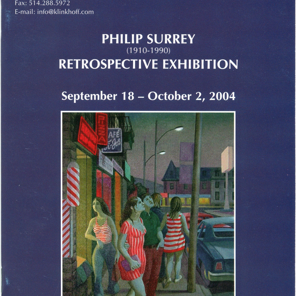 Philip Surrey (1910-1990) Retrospective Exhibition-Biography by Terry Rigelhof