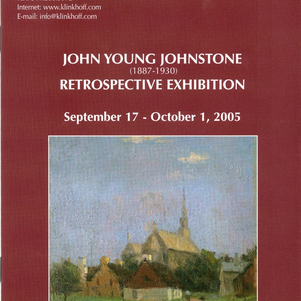John Young Johnstone (1887-1930) Retrospective Exhibition-Biography by A.K. Prakash
