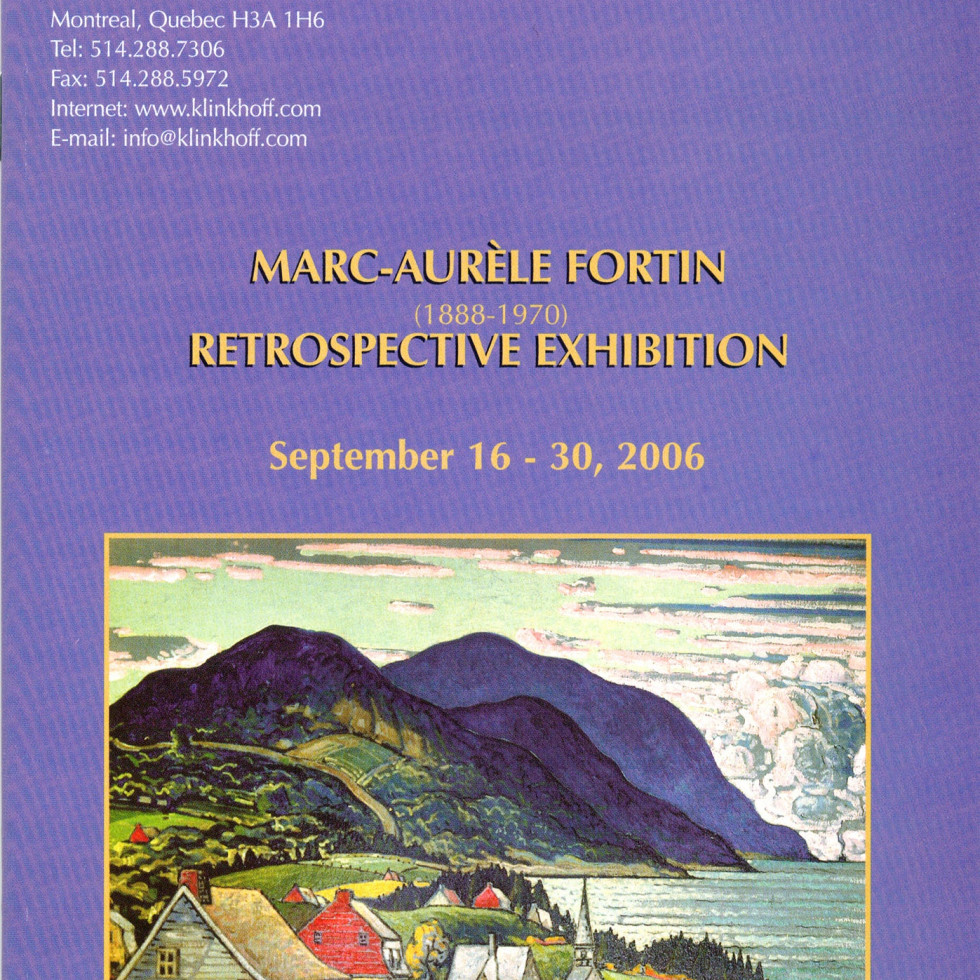 Marc-Aurèle Fortin (1888-1970) Restrospective Exhibition-Biography by Esther Trépanier