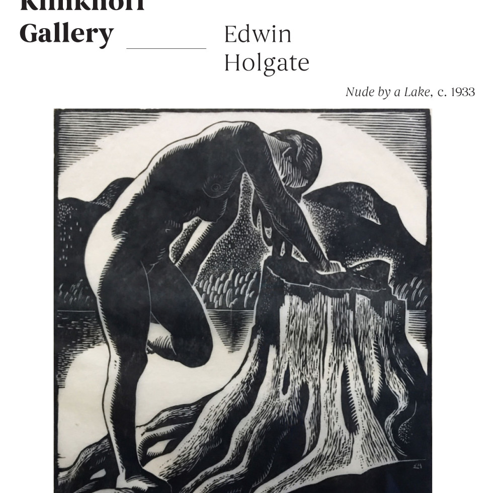 "One of Holgate's most striking images, ""Nude by a Lake"", c. 1933"
