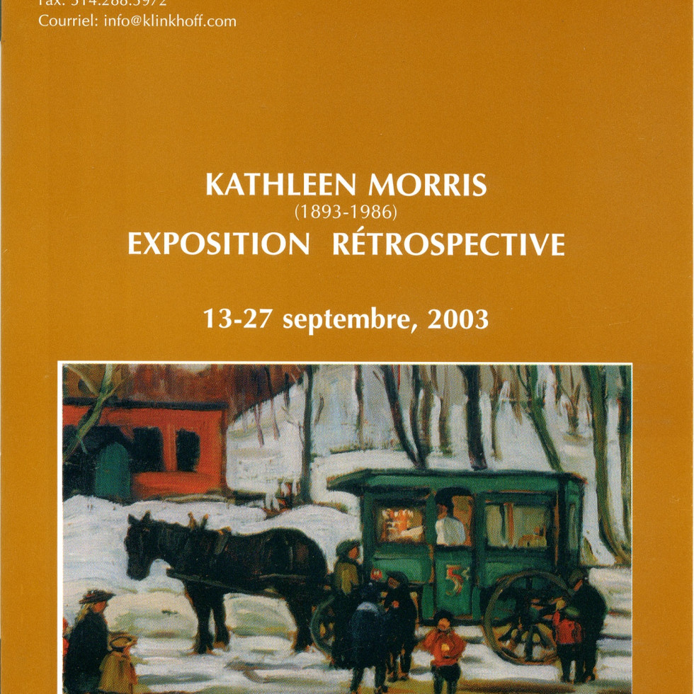 Kathleen Morris, A.R.C.A. (1893-1986) Retrospective Exhibition-Biography by Dorota Kozinska