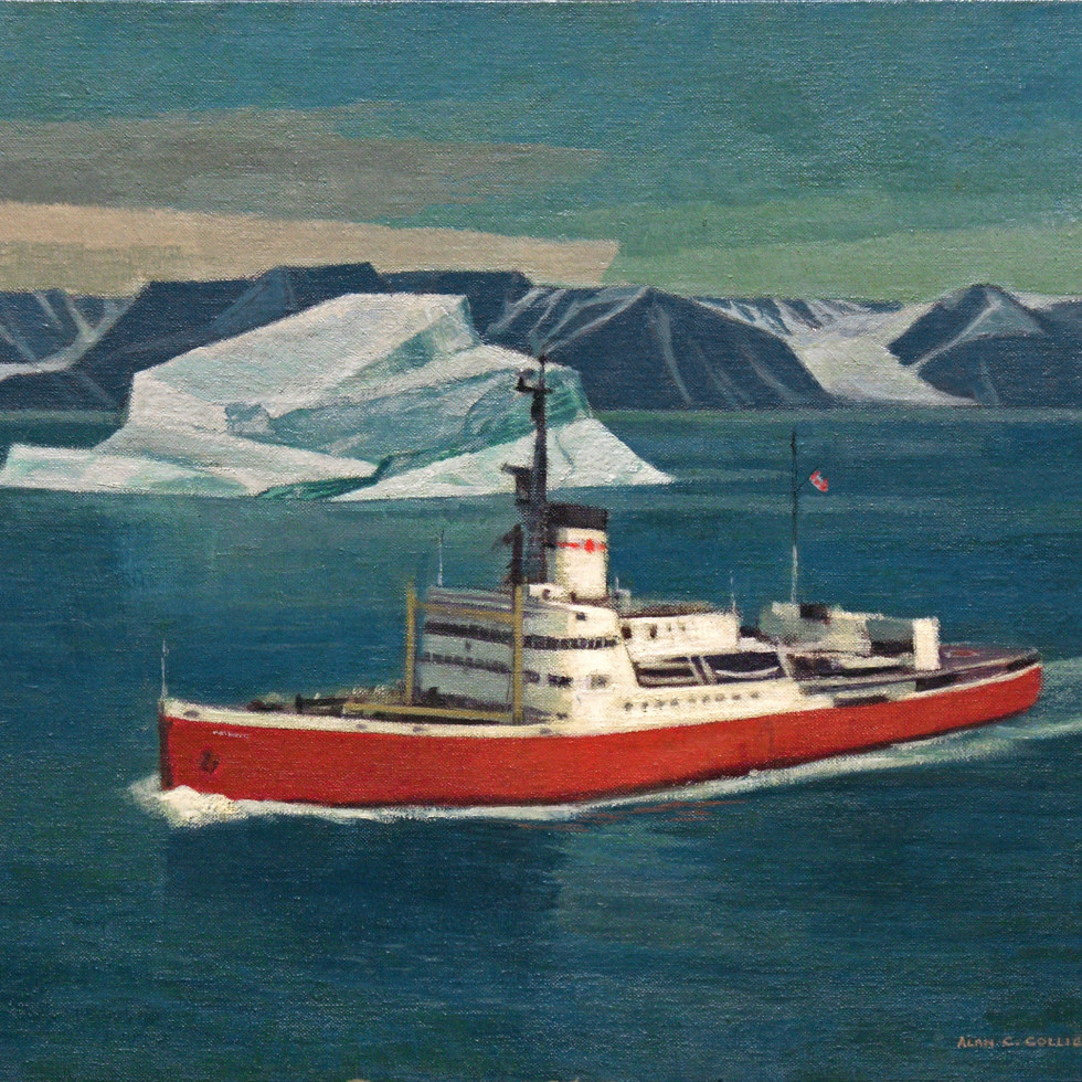 Painting by Toronto artist Alan Collier is Souvenir of 1972 Arctic Voyage