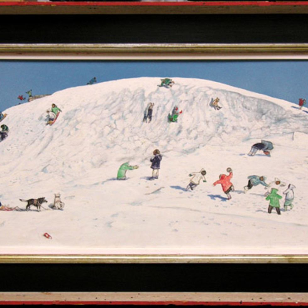 "William Kurelek, ""Eskimo Children Playing, Cape Dorset"", 1968-"