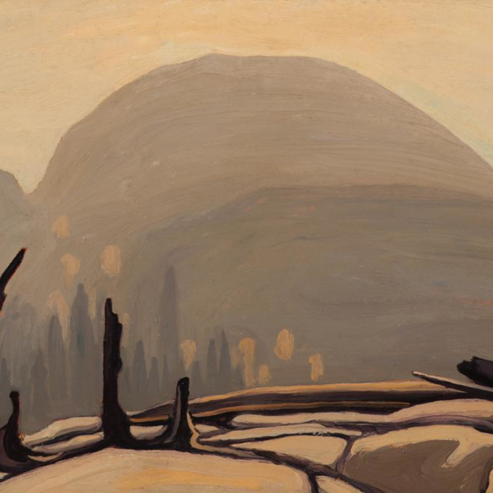 Lawren Harris Morning Sun Over Hill, Lake Superior (Lake Superior Sketch XXVII) 1922