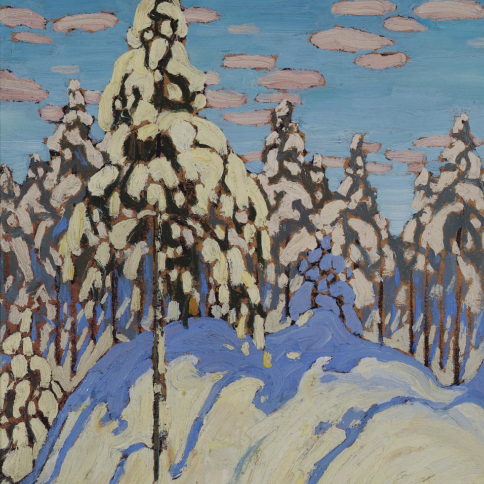 "Featured Painting: Lawren Harris, ""Snow Laden Trees"", c. 1916. By Charles C. Hill"