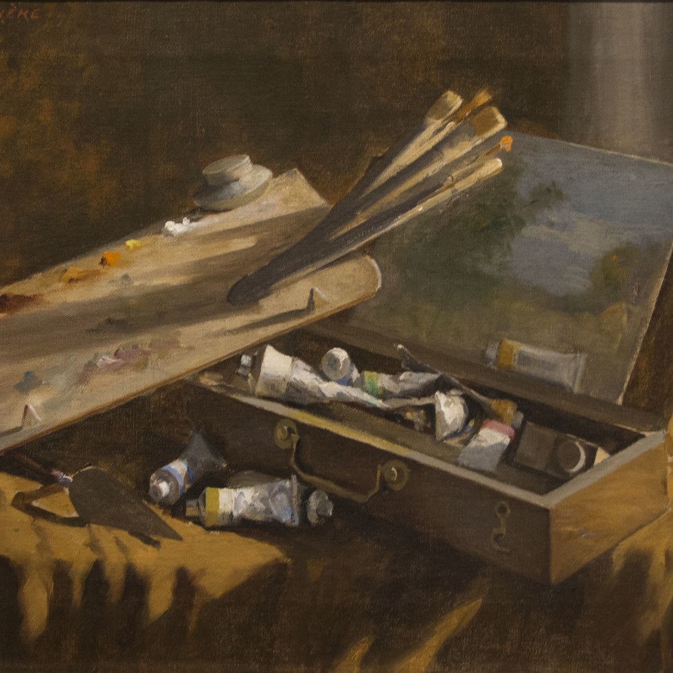Painter's Tools by Joseph-Charles Franchère: A Glimpse Into the Artists' Process