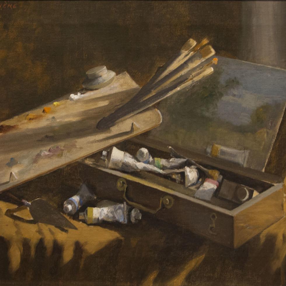 Une rare intrusion dans le studio de l'artiste est révélée dans une composition du 19e siècle