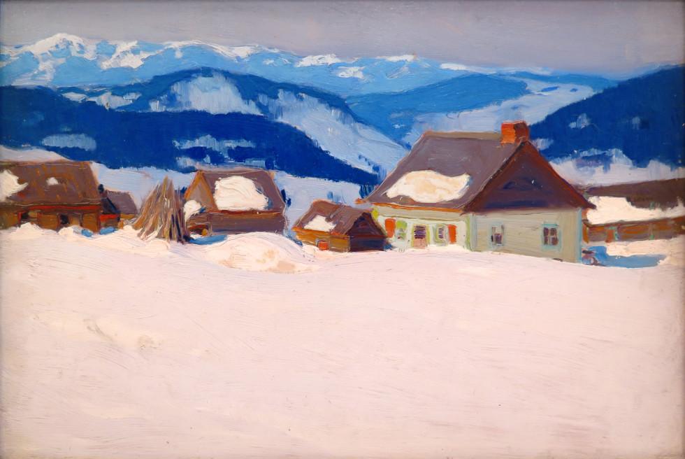 Clarence A. Gagnon, R.C.A., Laurentian Homestead, Ferme du rang St. Antoine, Baie St. Paul, 1920 (circa)