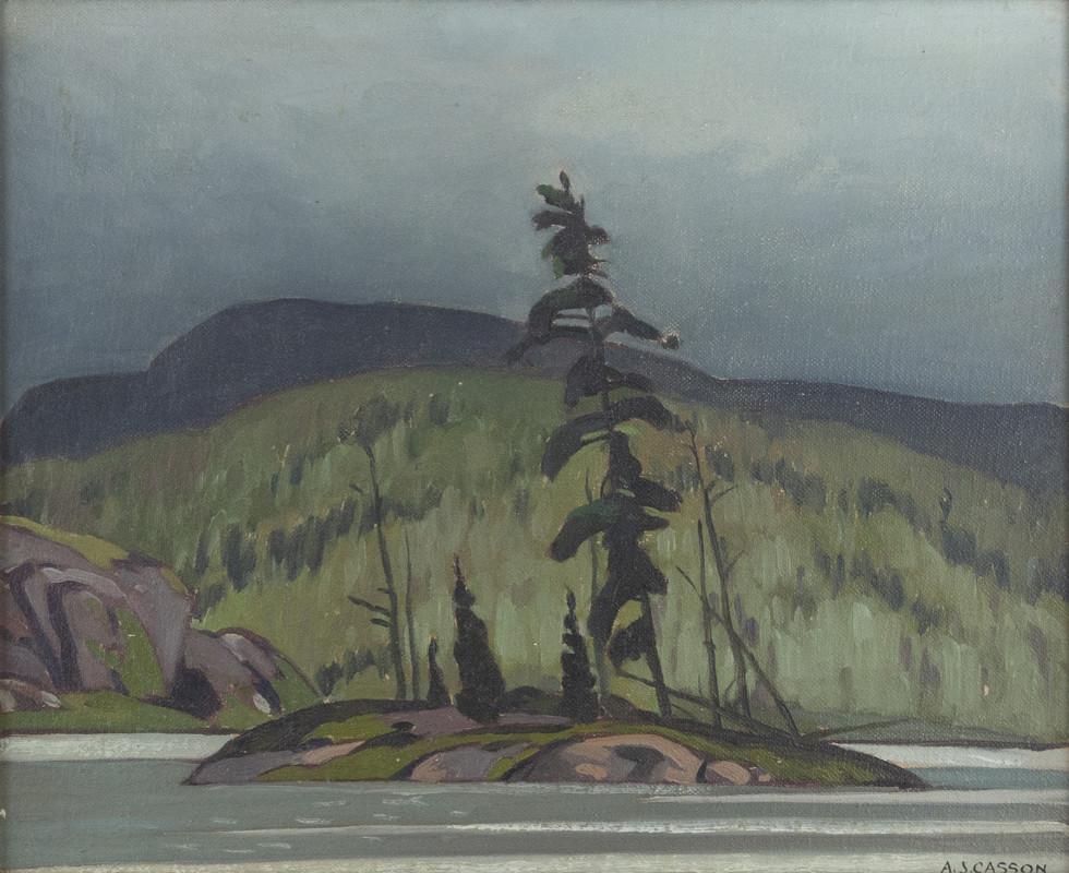 A.J. Casson, C.M., O.Ont., LL.D., R.C.A., Little Island, Kearney Lake, Algonquin Park, 1942