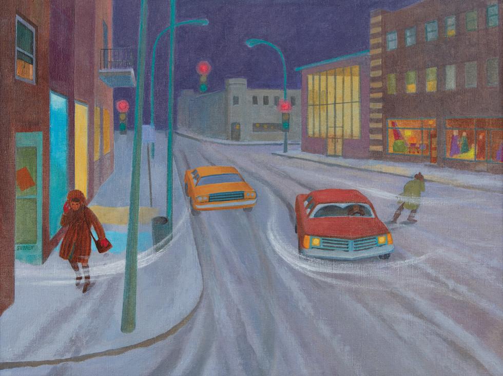Philip Surrey, C.M., LL.D., R.C.A., Winter Street Scene