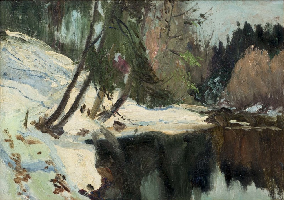 Maurice Cullen, R.C.A., Laurentian Backwater on the Caché River, 1922 (circa)