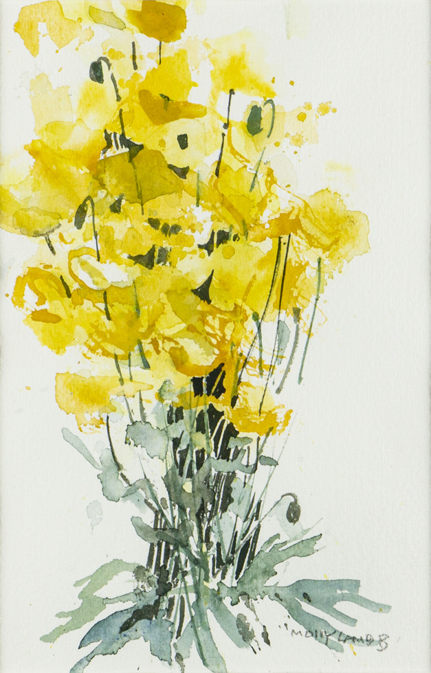 Molly Lamb Bobak, C.M., O.N.B., R.C.A., Yellow Poppies, 1992